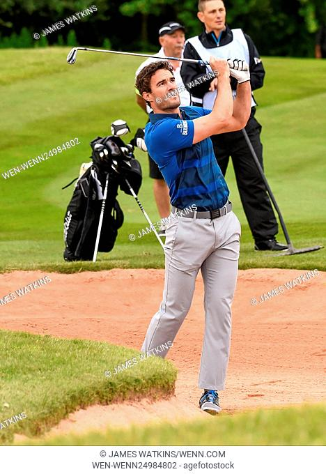 The Celebrity Cup 2016 at Celtic Manor, Wales Featuring: Thom Evans Where: Wales, United Kingdom When: 09 Jul 2016 Credit: James Watkins/WENN.com