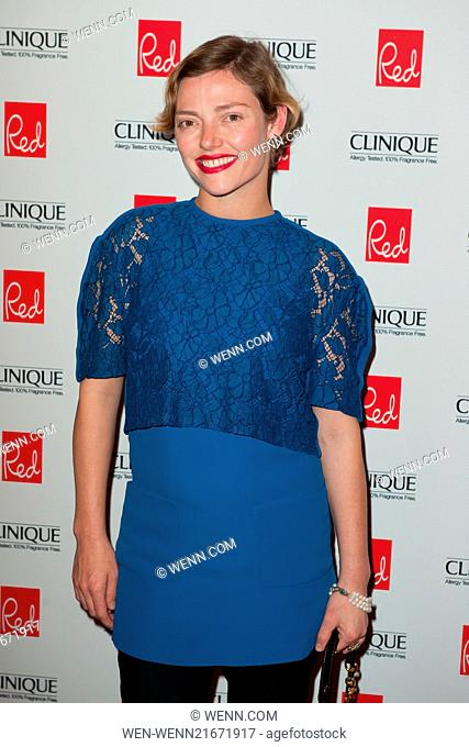 Red Woman of the Year 2014 ceremony in association with Clinique at the Ham Yard Hotel in London - Arrivals Featuring: Camilla Rutherford Where: London