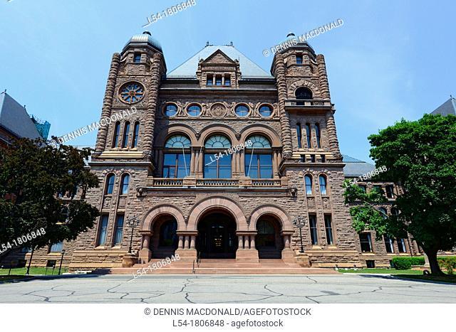 Legislative Assembly Queen's Park Toronto Ontario Canada Capital City