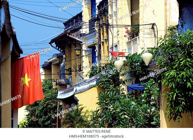 Vietnam, Quang Nam province, Hoi An, Old town listed as World Heritage by UNESCO, Street