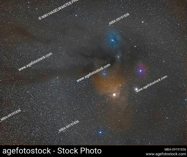 Antares region in the constellation Scorpio