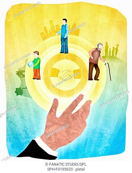 Life insurance, illustration