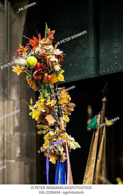 Traditional Hueter festival in Perchtoldsdorf, Austria, Lower Austria, Vienna area, Perchtoldsdorf