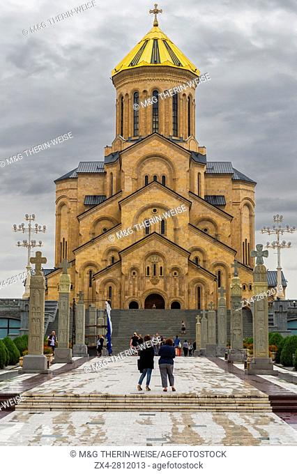 Holy Trinity Cathedral, Tbilisi, Georgia, Caucasus, Middle East, Asia