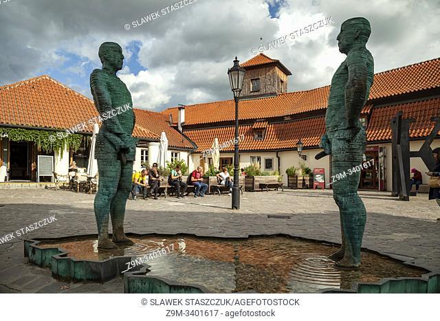 """""""""""""""""""""""Piss"""""""" Statue in Mala Strana, Prague, Czechia"""