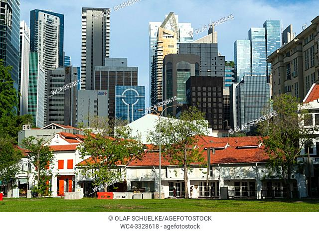 Singapore, Republic of Singapore, Asia - A view of the city skyline in the central business district of the city-state