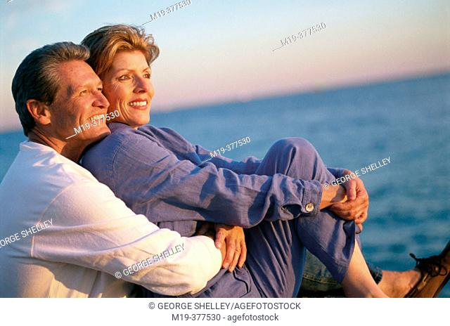 couple watching the sunset