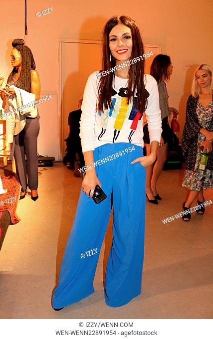 NYFW - Alice and Olivia By Stacey Bendet Presentation Featuring: Victoria Justice Where: New York, New York, United States When: 15 Sep 2015 Credit: IZZY/WENN
