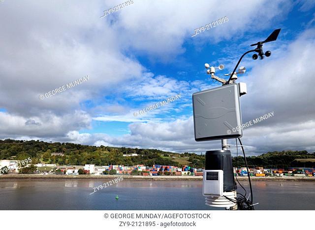 Weather Instruments on Blackrock Castle by the River Lee, Cork City, Ireland
