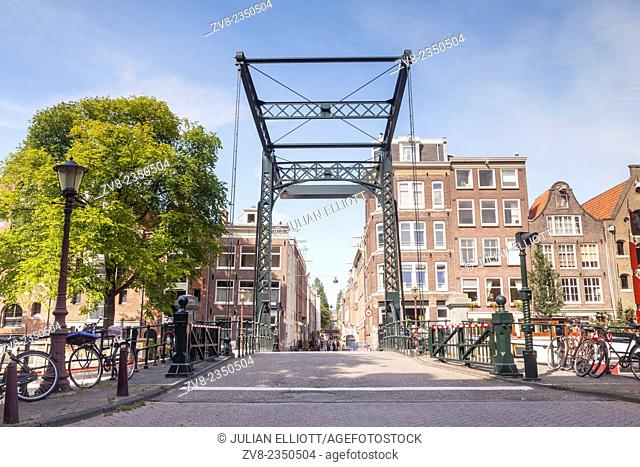 A canal bridge in Amsterdam. The canals of the historic centre of the city have been designated a World Heritage Site by UNESCO