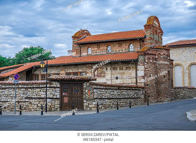 Church of St Stephen in the old town of Nessebar, Bulgaria, on a cloudy summer morning