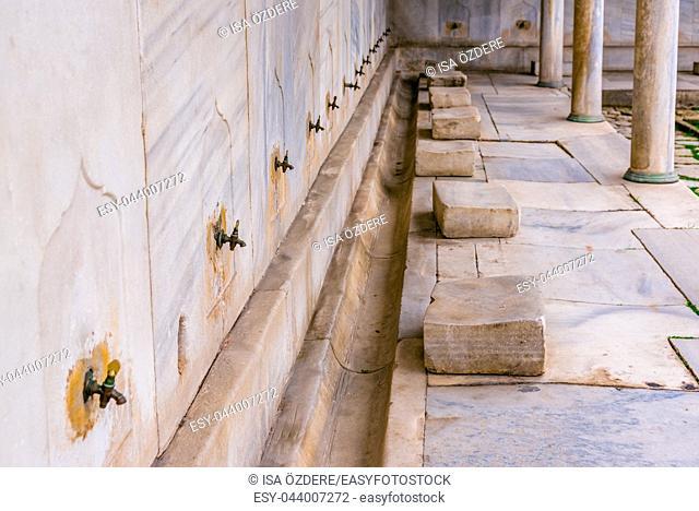 ISTANBUL, TURKEY- MARCH 11, 2017: Exterior view of Hagia Sophia, a Greek Orthodox Christian patriarchal basilica (church), built in 537 AD