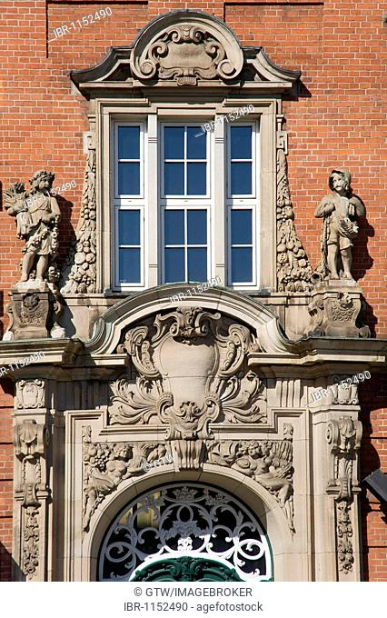 Klingberg building, built in 1907 as a police station, Hamburg, Germany, Europe