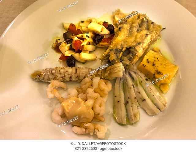 """Food- """"Antipasta"""" of fishes and sea food"""