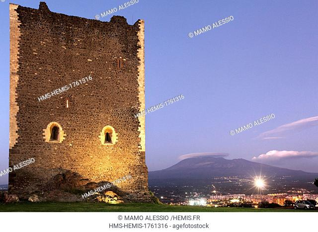 Italy, Sicily, Catania, Paternò, the Norman Castle