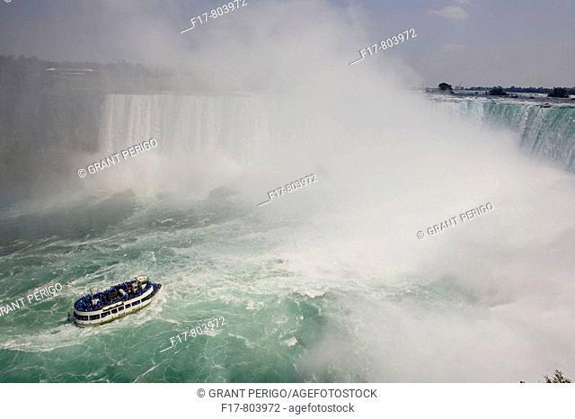 Tourist ship 'Maid of the Mist' below Niagara Falls