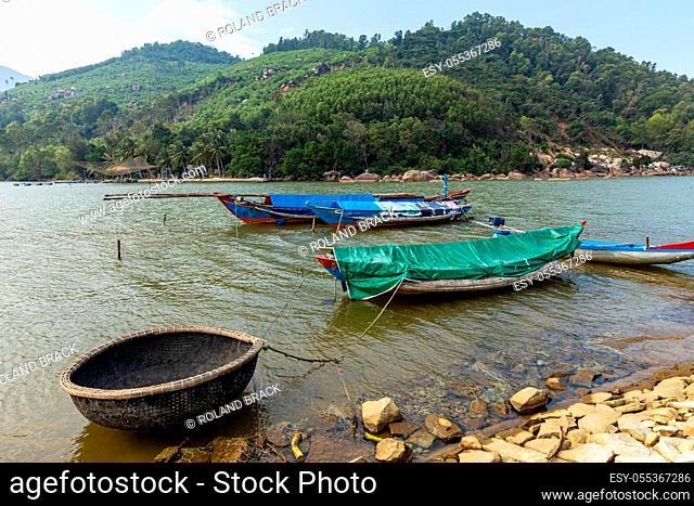 The port of Lang Co in Vietnam