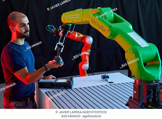 Robotics development in industry, Robot, Advanced manufacturing Unit, Technology Centre, Tecnalia Research & Innovation, Donostia, San Sebastian, Gipuzkoa