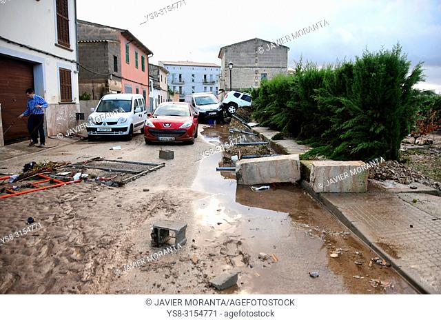 Flood in Sant Llorenç des Cardassar, Balearic islands, Spain, October, 9, 2018