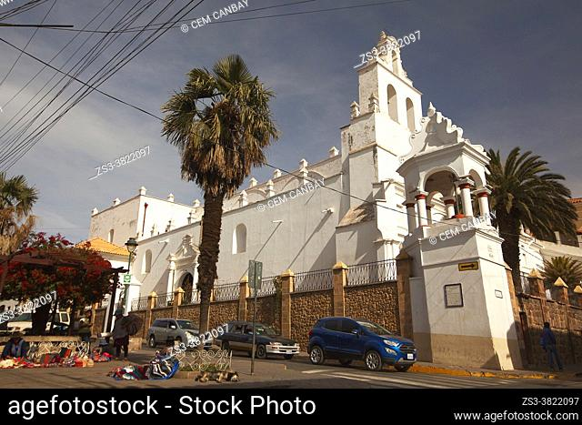 View to the Templo Santo Domingo Convent at the historic center, Sucre, Chuquisaca Department, Bolivia, South America