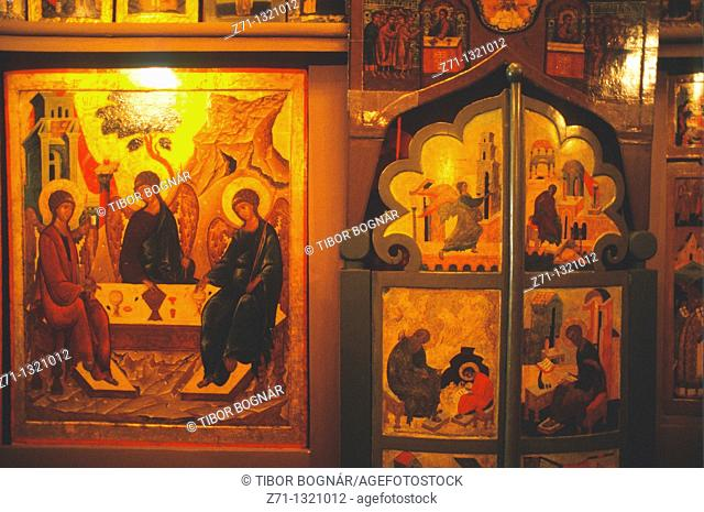 Russia, Moscow, Kremlin, Church of the Deposition of the Robe