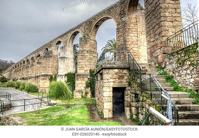 San Anton Aqueduct, built in 16th century, Plasencia, Caceres, Spain