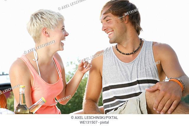 couple enjoying summer
