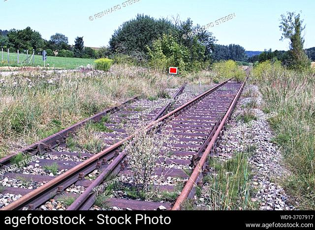 forgotten railway in waste land boondocks