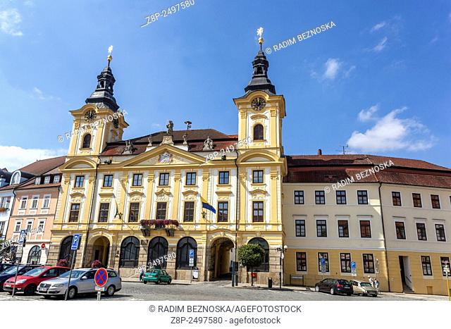 Town Hall, Pisek, South Bohemia, Czech Republic, Europe