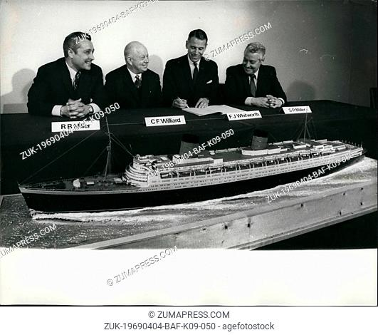 Apr. 04, 1969 - Americans Pay £3M. For Queen Liner. 'Elizabeth' To Be Hotel. A three-man American syndicate has bought the Cunard Liner Queen Elizabeth