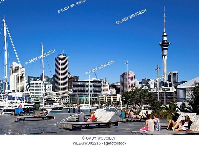 New Zealand, View of Karanga Plaza