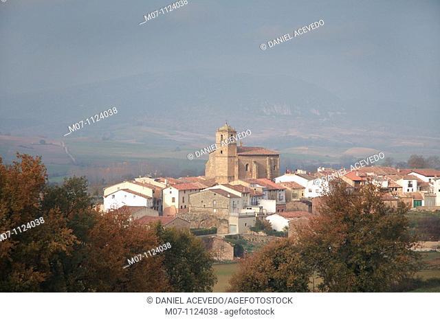 Genevilla village, pueblo, Llanura Alavesa, Basque Country, Spain, Europa, Europe