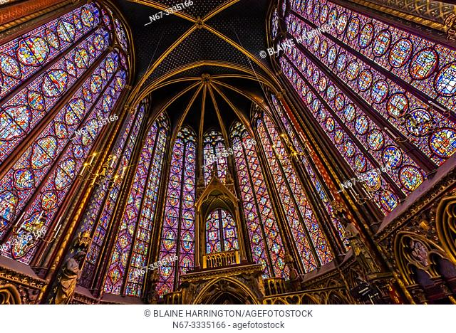 The Sainte-Chapelle is a royal chapel in the Gothic style, within the medieval Palais de la Cité, the residence of the Kings of France until the 14th century