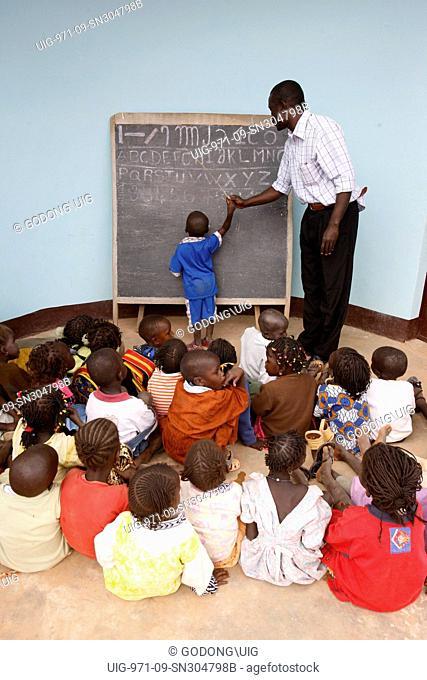 Kindergarten in Teubi lepers' village