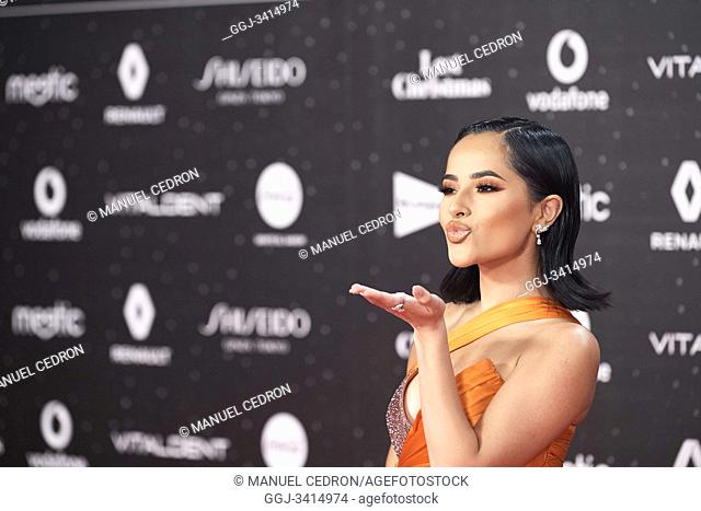 Becky G attends Los 40 Music Awards at Wizink Center on November 8, 2019 in Madrid, Spain