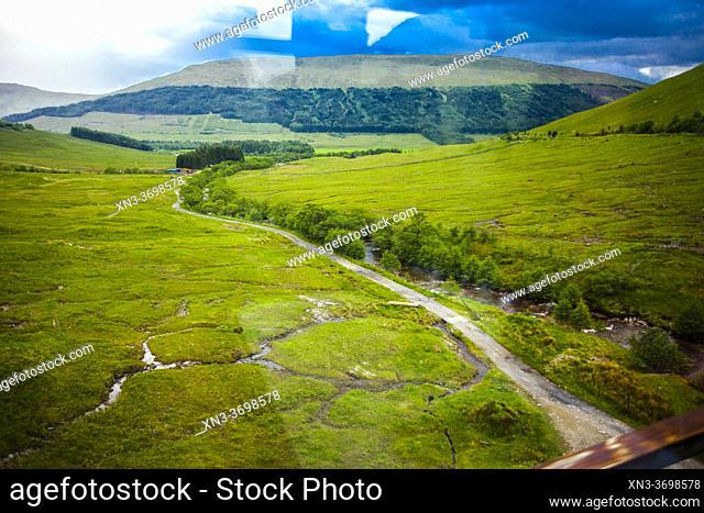 Travel in train from Fort Willians to Glasgow, West Higland, Scotland, United Kingdom, Europe