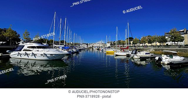 Europe, France, panoramic view of the port of Vannes in the Morbihan