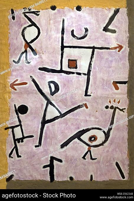 To the Right, To the Left, Nach Rechts, Nach Links, Paul Klee, 1938, Phillips Collection, Washington DC, USA, North America