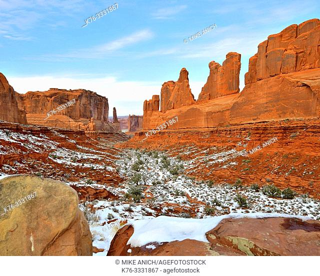Wall Street, Winter, Arches National Park, Utah