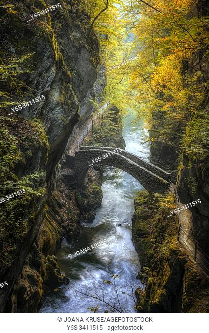 Gorges de l'Areuse, Noirague, Neuchatel, Switzerland, Europe
