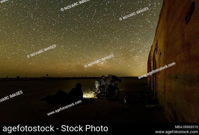 Cycling in the Adrar region of the Sahara Desert, Mauritania
