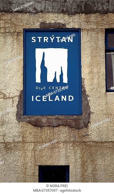Diving school, house, Iceland, Hjalteyri, Akureyri