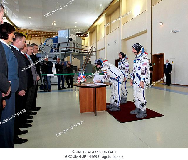 At the Gagarin Cosmonaut Training Center in Star City, Russia, Expedition 4445 backup Soyuz Commander Yuri Malenchenko of the Russian Federal Space Agency...