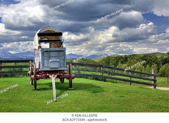 Covered wagon at Bar U Ranch National Historic Site, Longview, Alberta, Canada