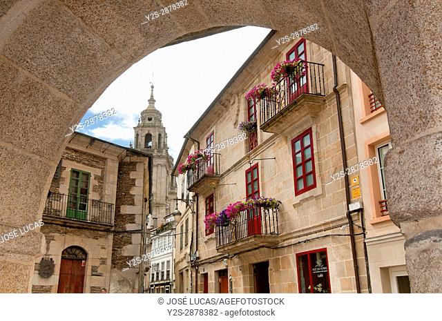 Urban view, Lugo, Region of Galicia, Spain, Europe
