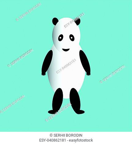 The panda is on its hind legs set