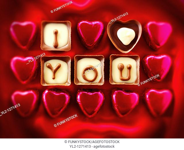 'I Love You' Valentines or Mothers Day Chocolates
