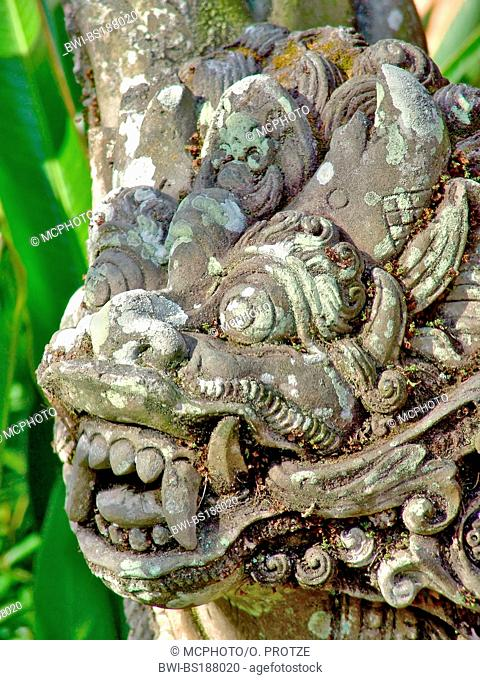 Ancient Balinese Temple Sculpture, Indonesia, Bali