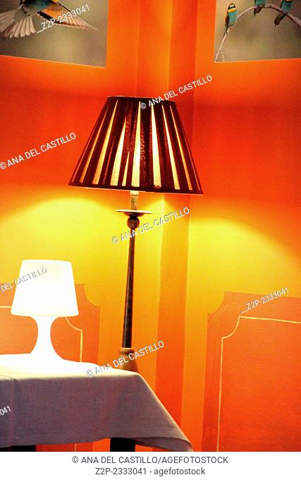 Lamps Indoor decoration in orange Teruel Spain