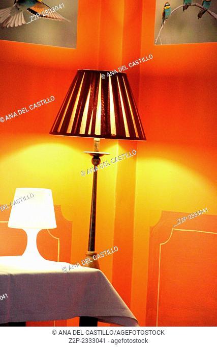 Lamps Indoor decoration in orange Teruel Spain